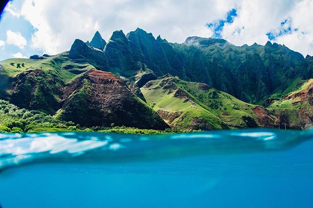 Na Pali Coast. Only accessible by boat, helicopter, or your own two feet. #kauaioverlander #smallislandbigadventures