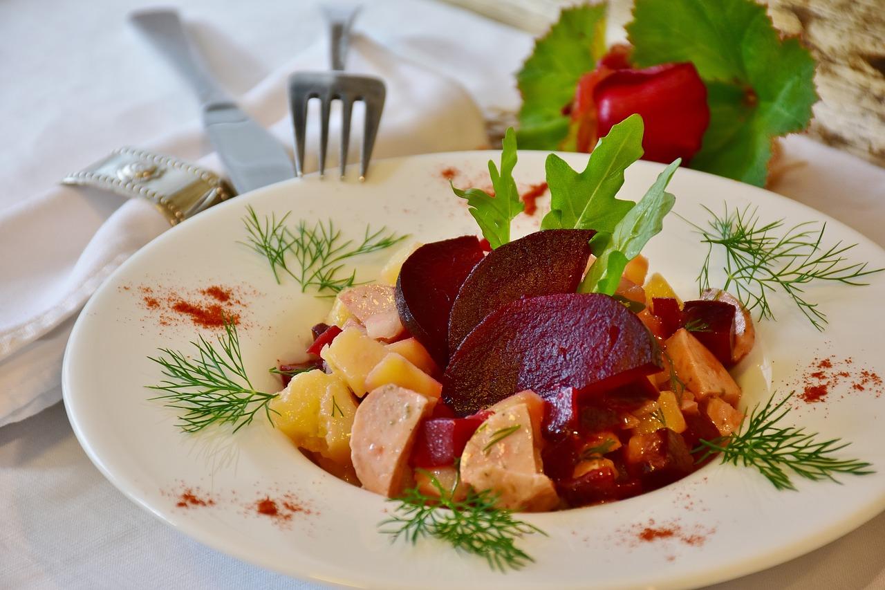 potato-beet salad