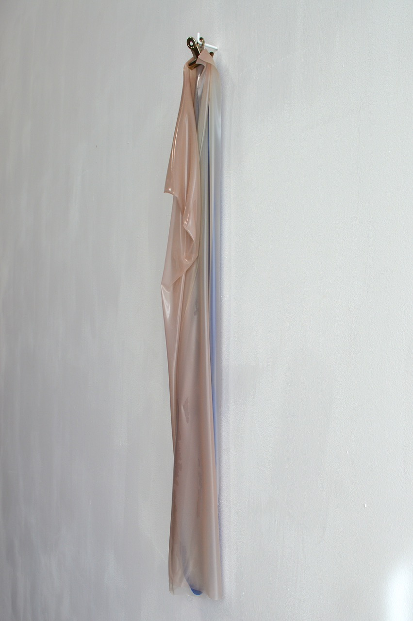 Hung pink and blue paint, 2012, 77x6cm.jpg