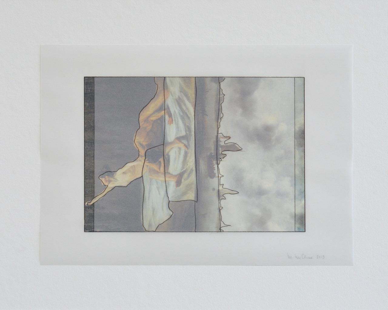 work on paper, postcard series, 2012-2013