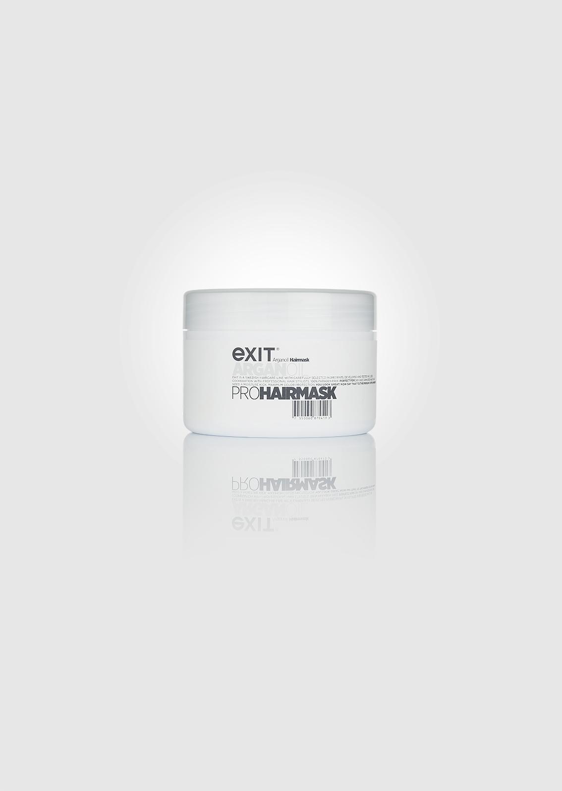 Behandling som är rik på arganolja och macadamia, som återfuktar, tränger djupt in i håret och återbygger dess styrka och spänstighet.