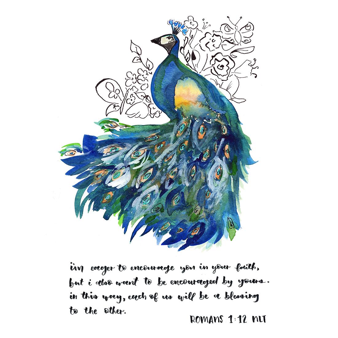 Romans 1:12 NLT