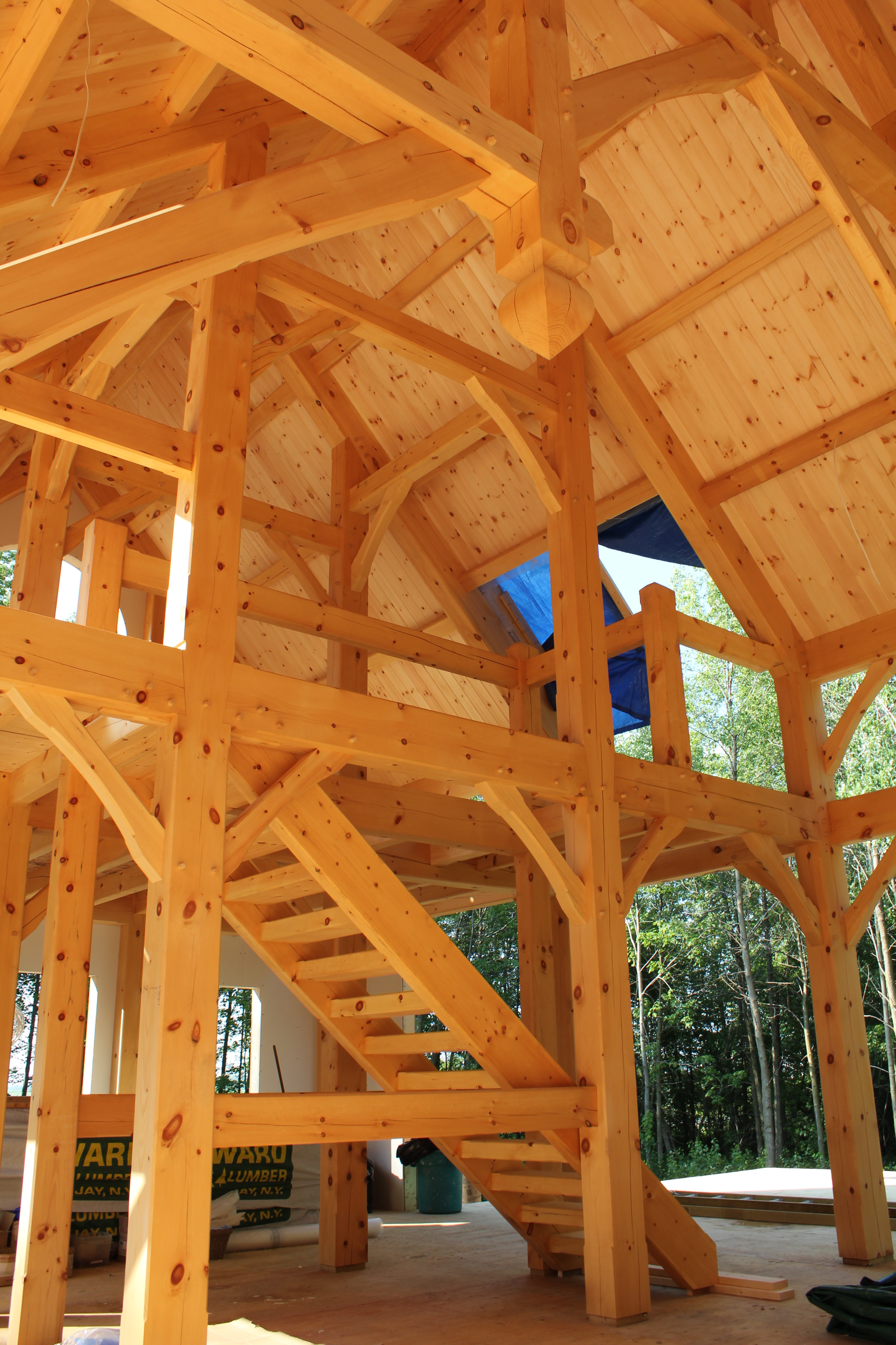 timber frame loft stairs.JPG
