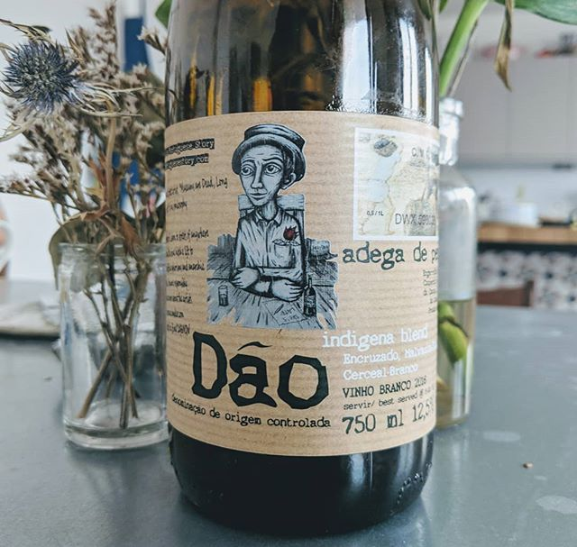 Super different and really cool. This is white wine from the Dão in Portugal 🇵🇹 It is made from a blend of local varieties and has wonderful camomile 🌼 and pear 🍐 flavours #everyglassmatters ❤️ . . . . . . . . . . . #wine #wino #winery #vino #wines #vineyard #bottle #bottleshot #drinks #drinking #food #foodie #foodandwine #wineandfood #learn #wow #learnaboutwine #instagood #instawine #instafood #love #portugal #dao #whitewine