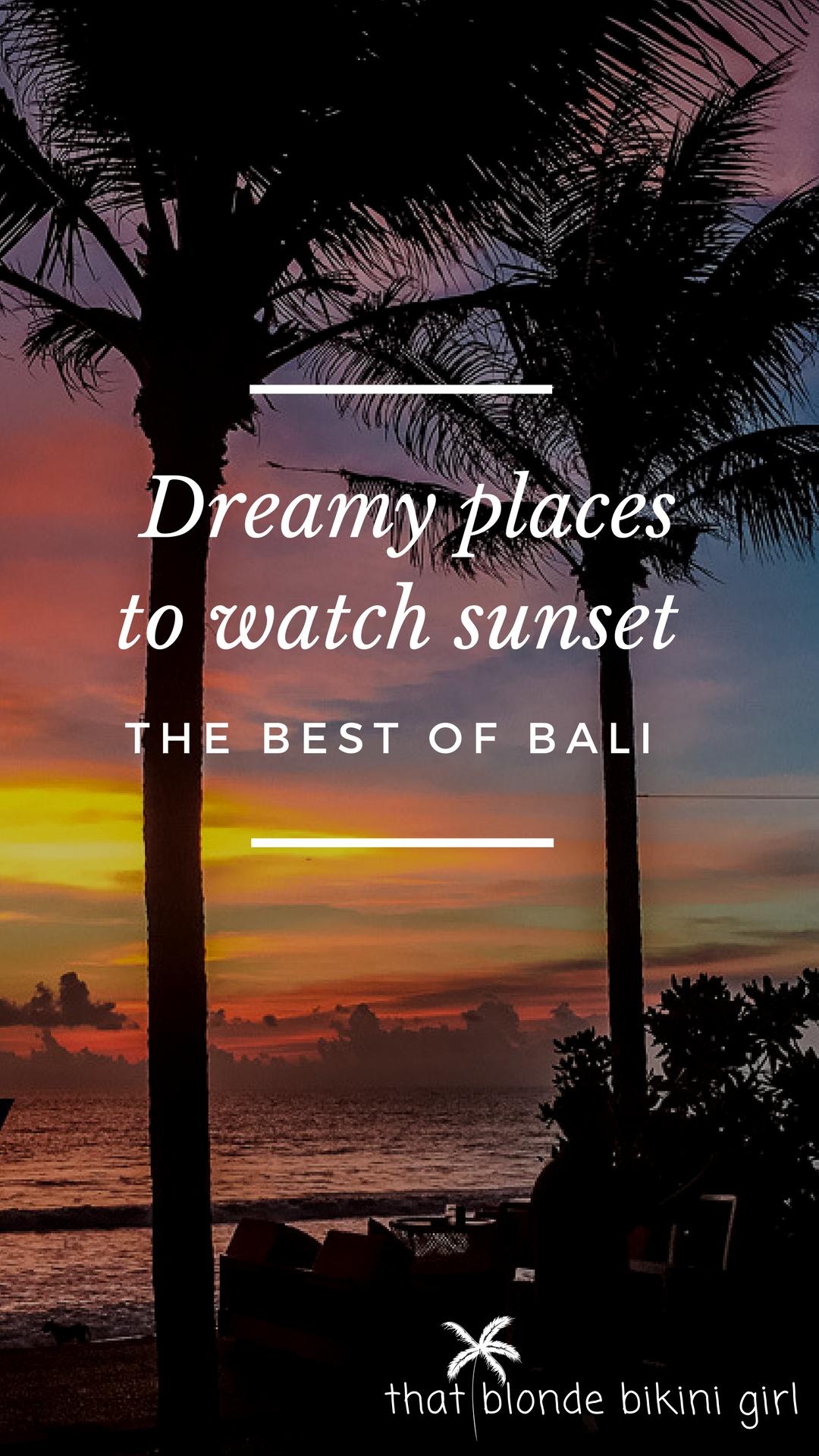 Best sunset bars in Bali