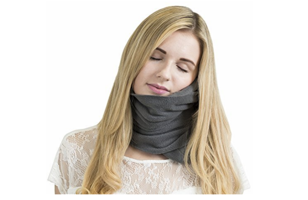 Don't you hate it when your airplane pillow doesn't support your neck properly? UGH! The worst! This pillow changes the game for lame-ass travel pillows… and it's super compact too! - $39.04