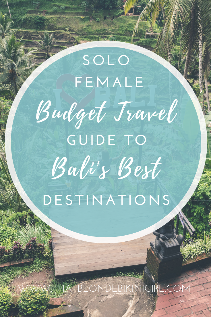Solo female travel guide to Bali