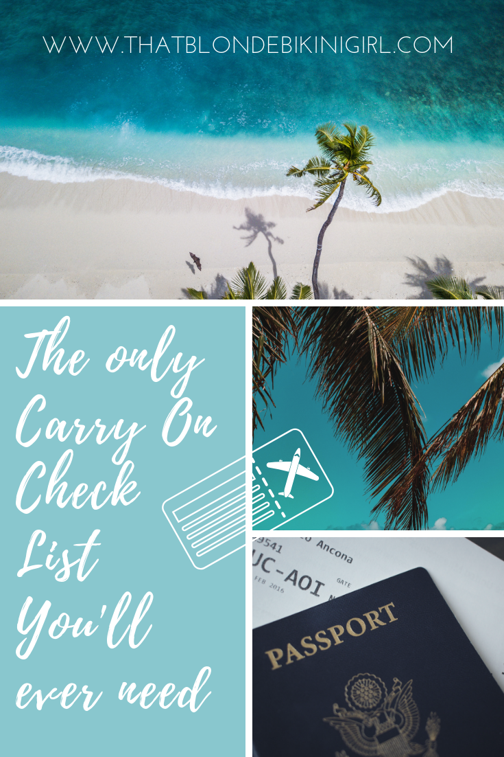 The ultimate carry on check list