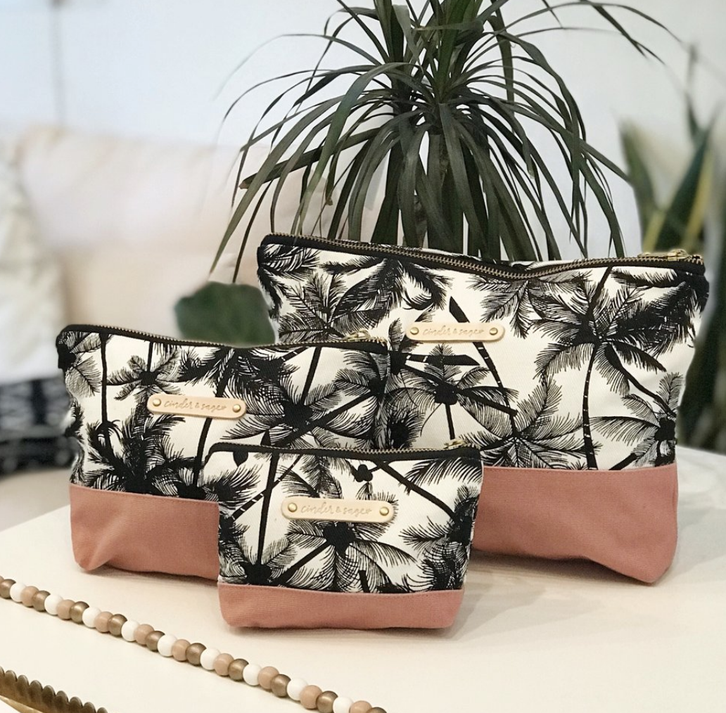 Cinder & Sage Travel pouches - Hold your airport essentials, makeup, jewellery… you name it… one of these three sizes works for your needs! - $16.00-38.00