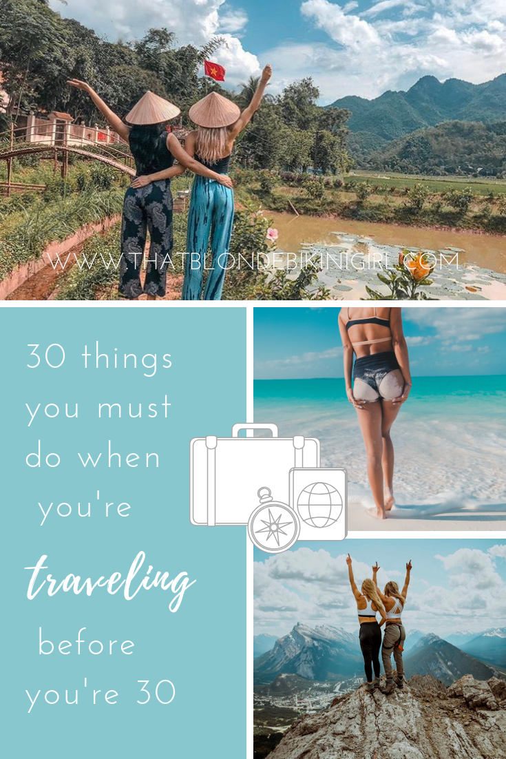 30 things to do before you're 30 travel bucket list
