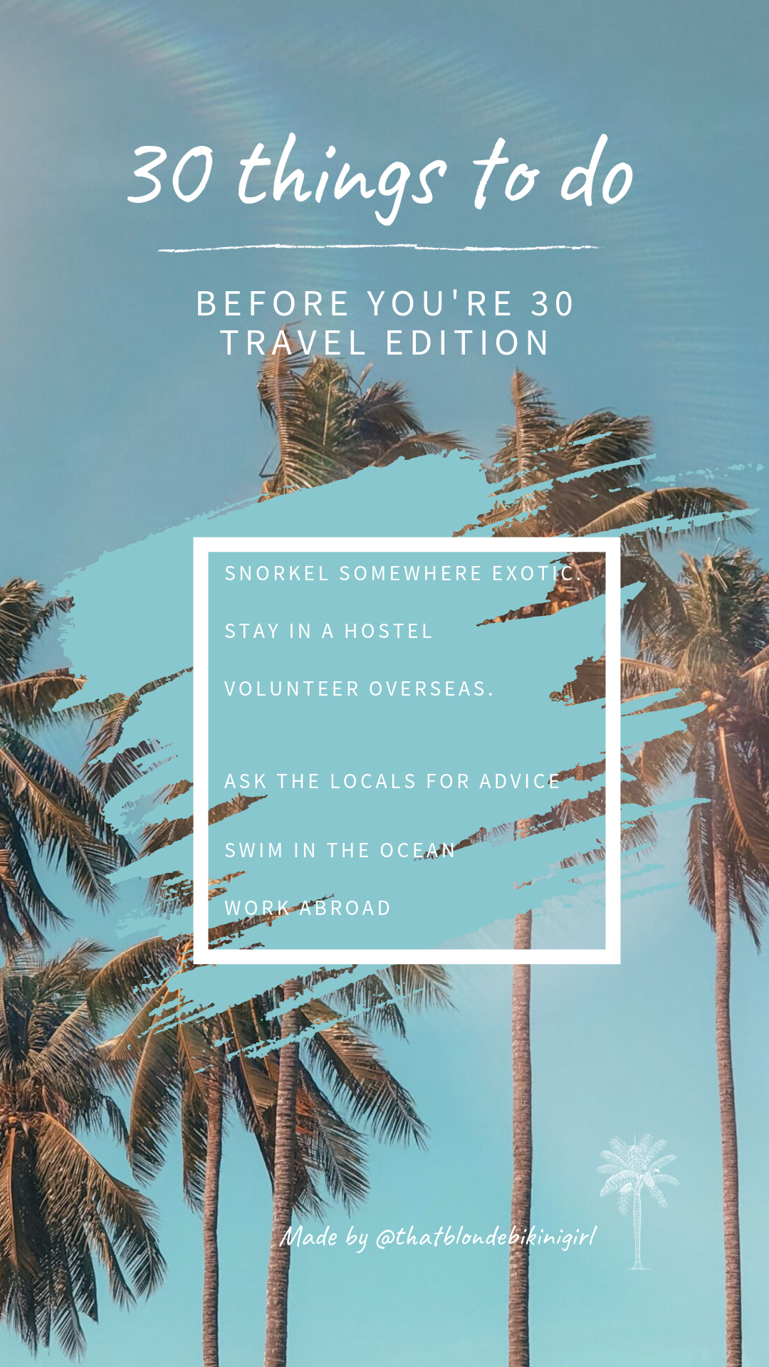 30 things to do before you're 30 travel edition