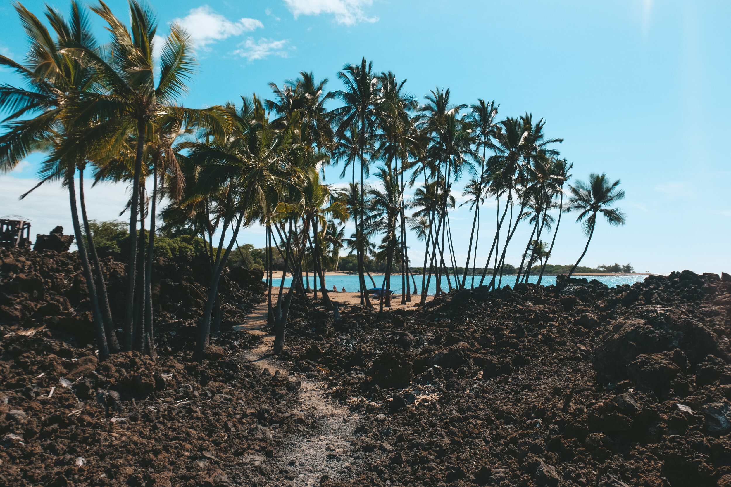 If you keep walking east (over the volcanic rock) and walk for about 20 minutes you'll also find another hidden beach equally as gorgeous.