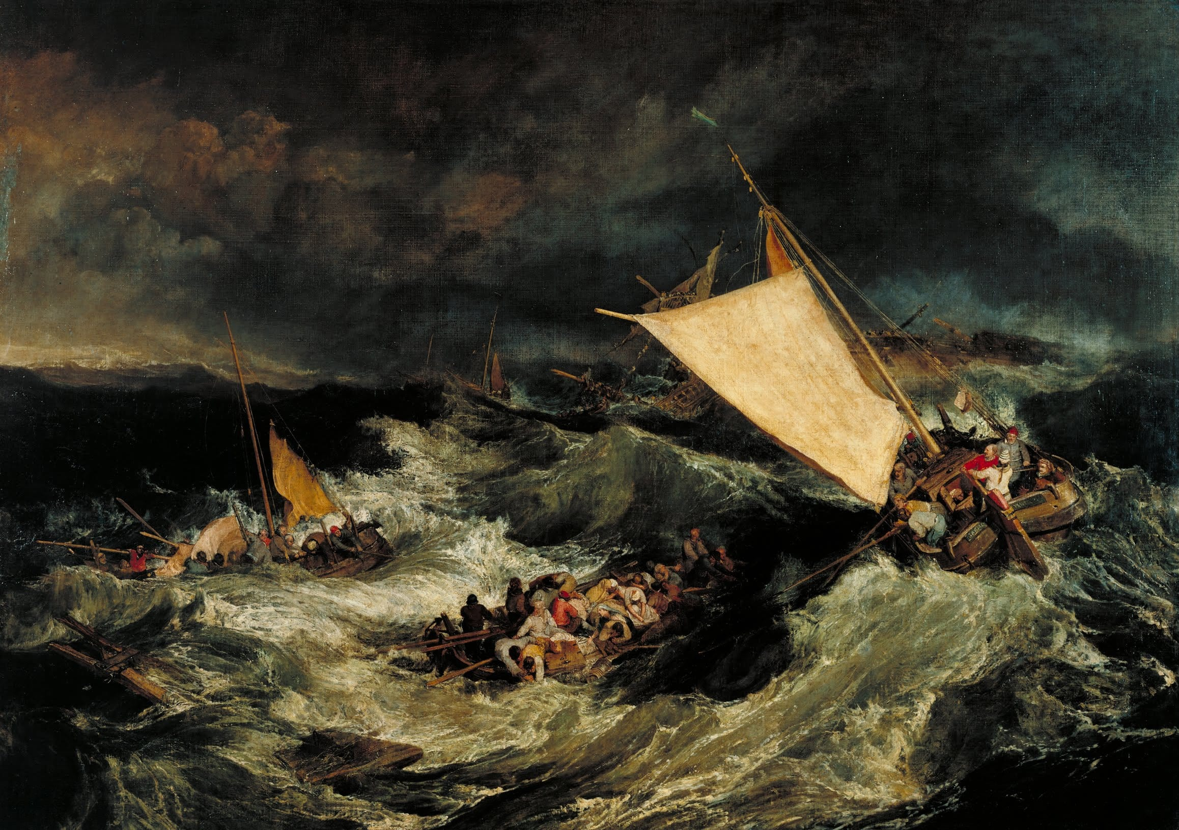 J.M.W. Turner,  The Shipwreck  (1805). Tate Gallery, London