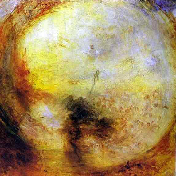 J.M.W. Turner,  Light and Colour (Goethe's Theory)--The Morning after the Deluge—Moses Writing the Book of Genesis  (1843).
