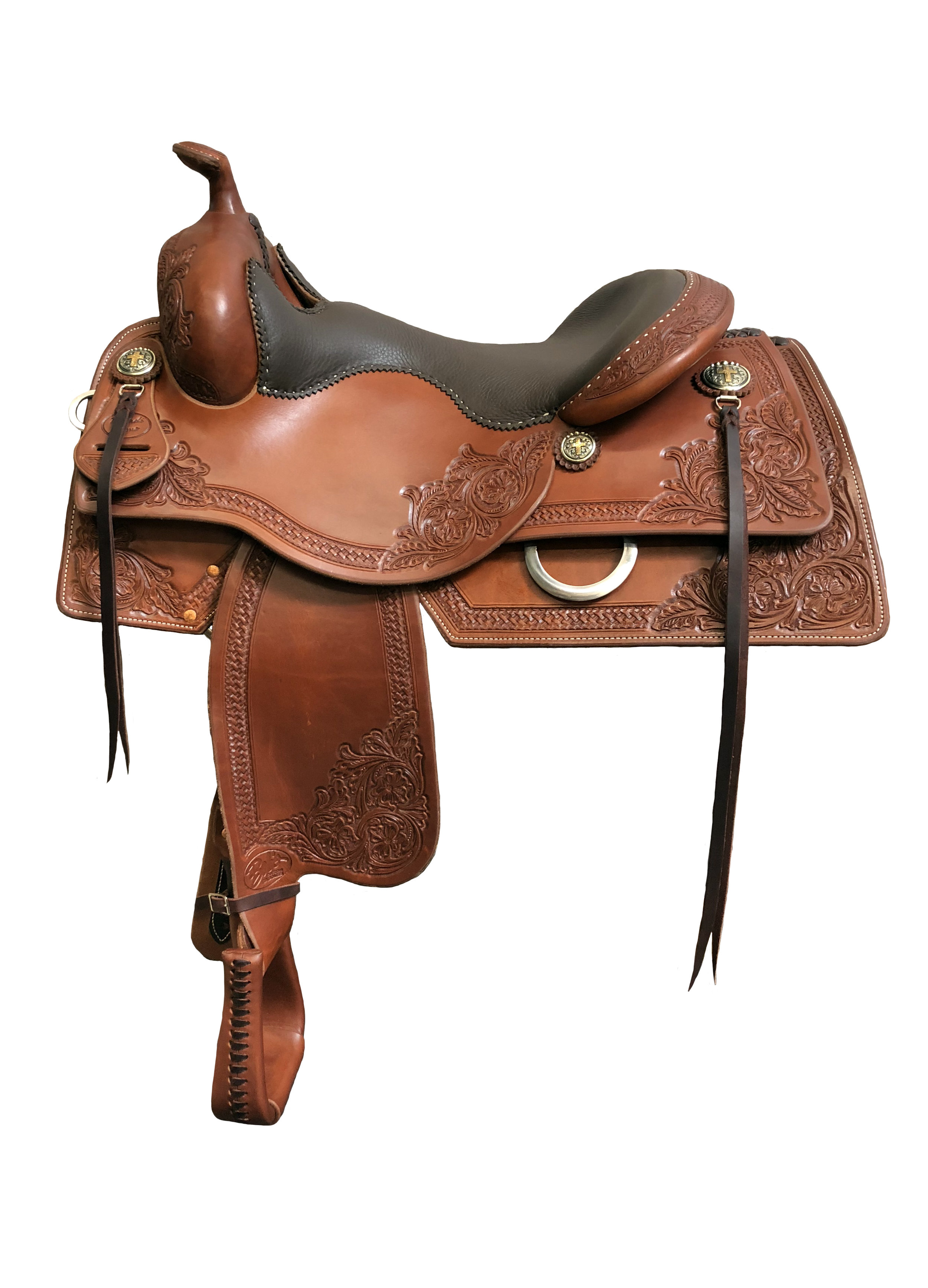 Custom designed by Brandi Lyons for maximum rider comfort and contact to your horse.