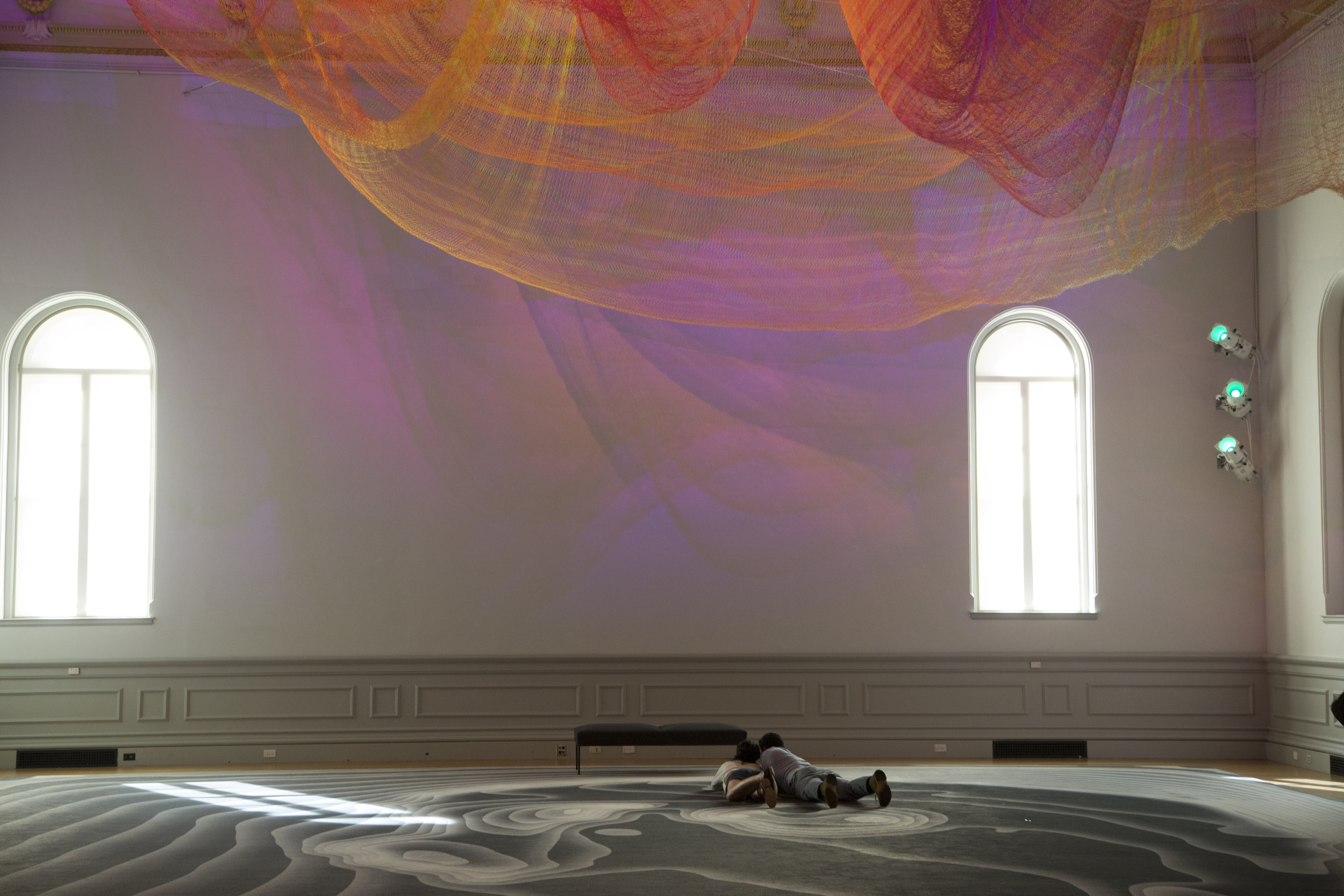 Light exhibit at the Renwick Gallery in Washington, DC