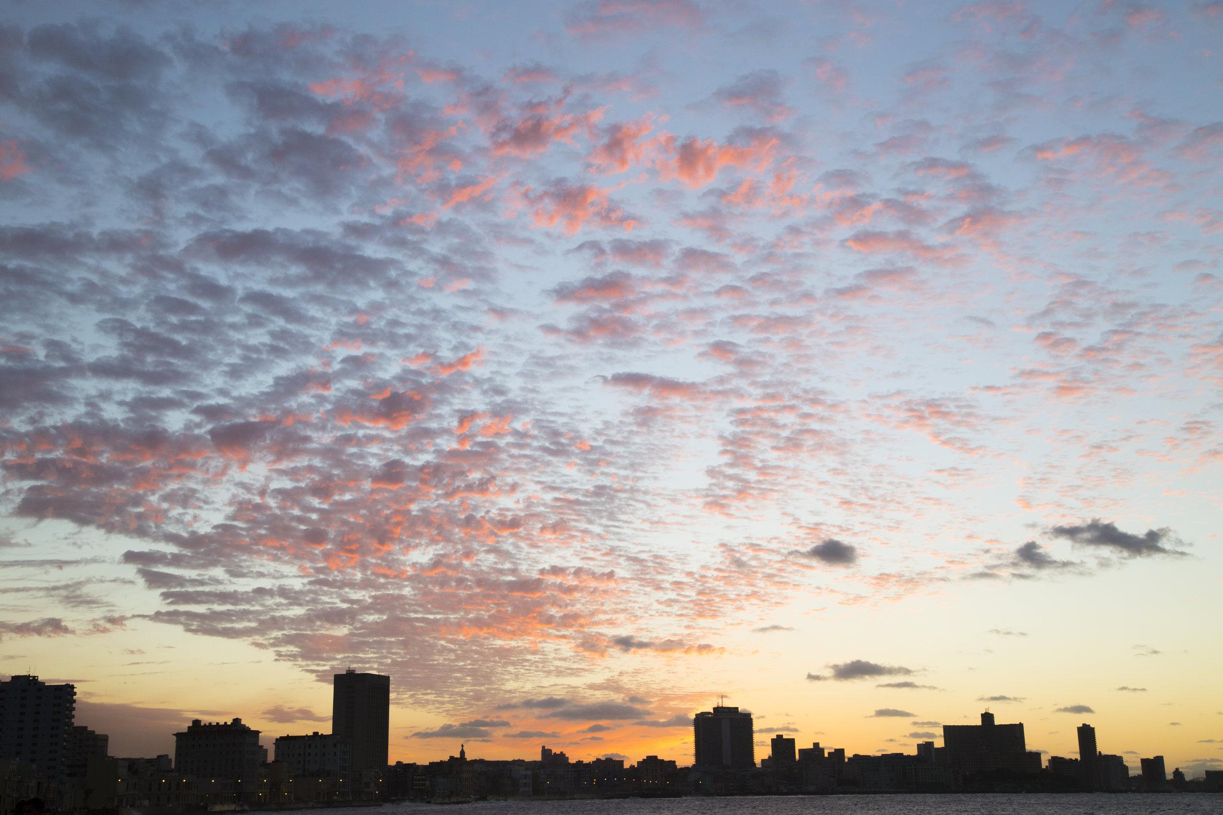 sunset over Havana, Cuba