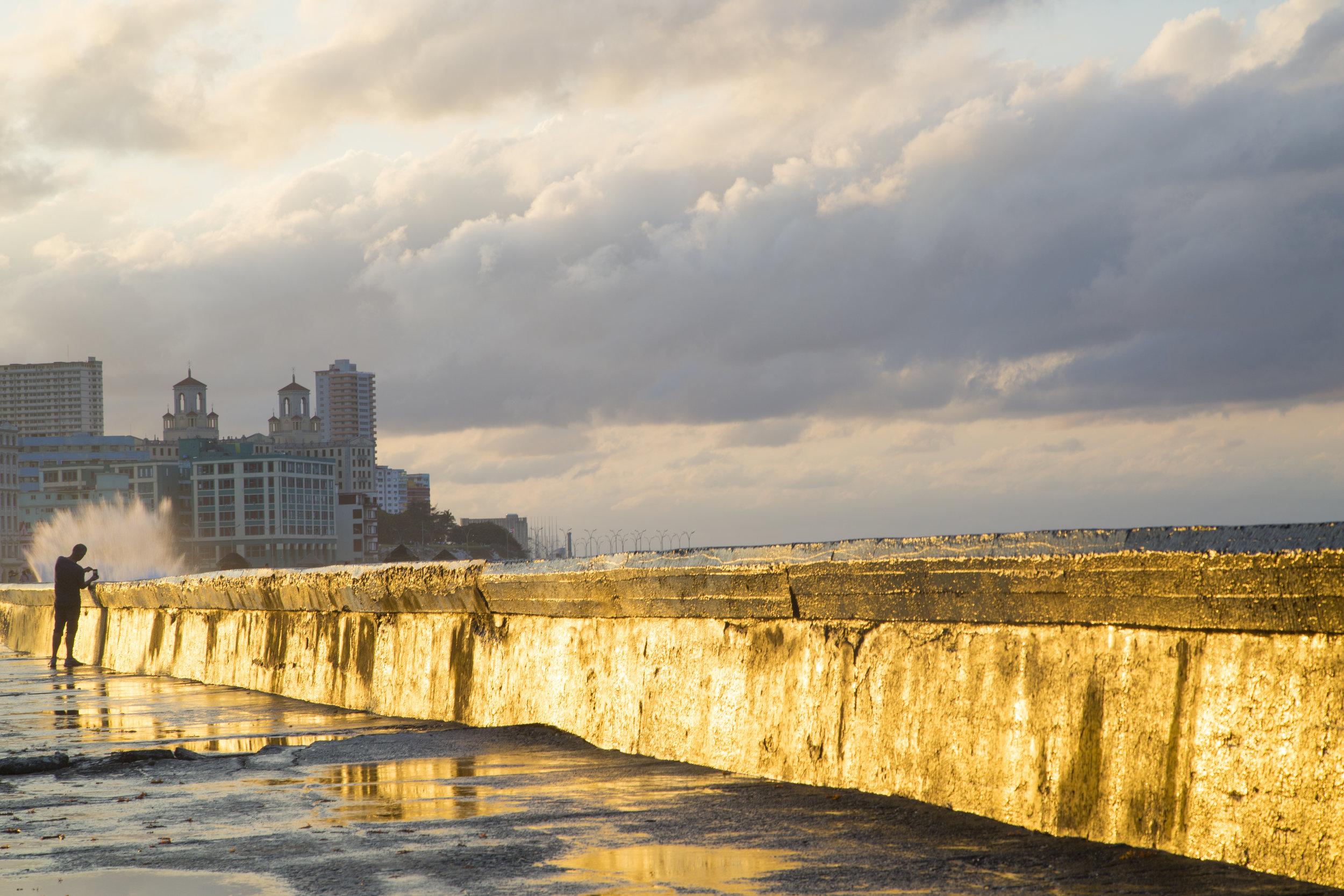 along the Malecon, Havana, Cuba