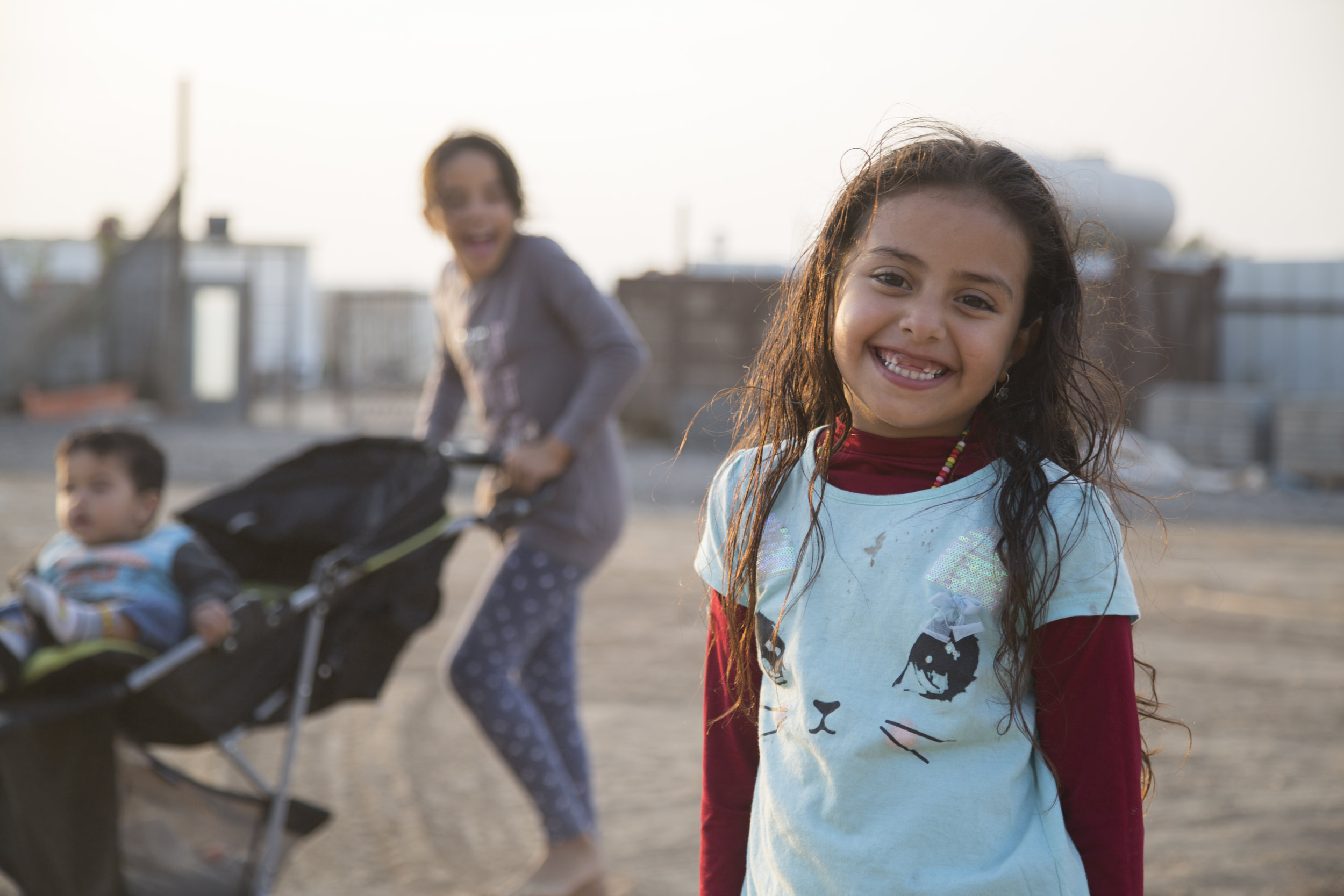 Children in bedouin village in Negev, Israel