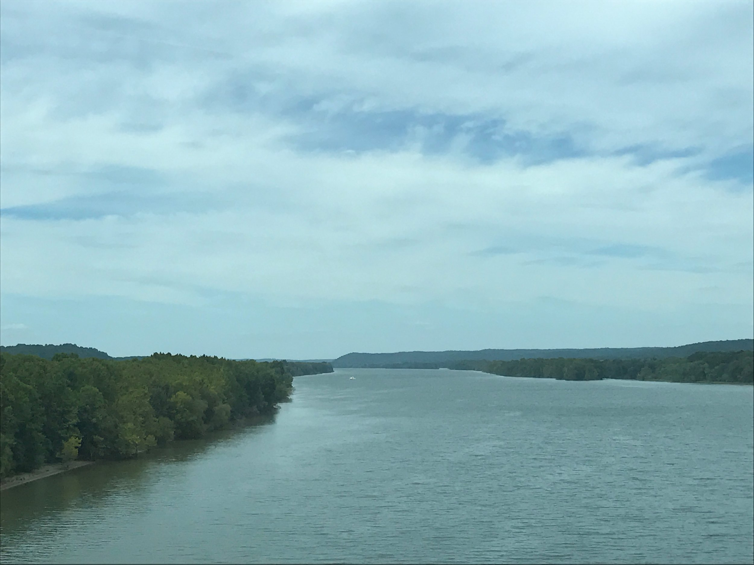 Mississippi River from a bridge