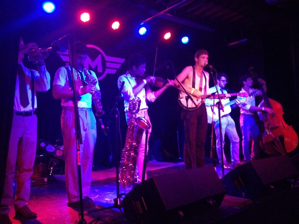 A vintage 2014 photo of our first performance at Motorco.