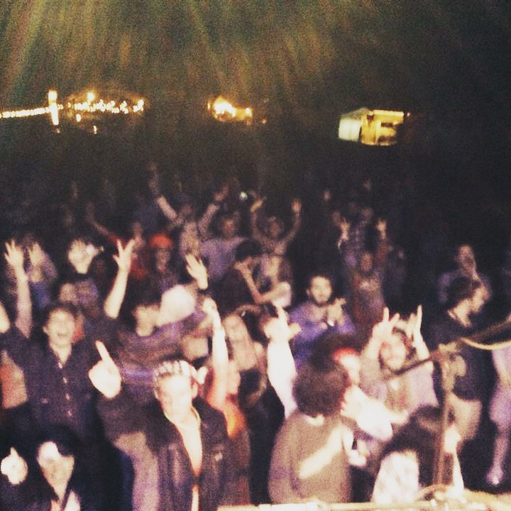 The crowd from our first appearance in October 2014