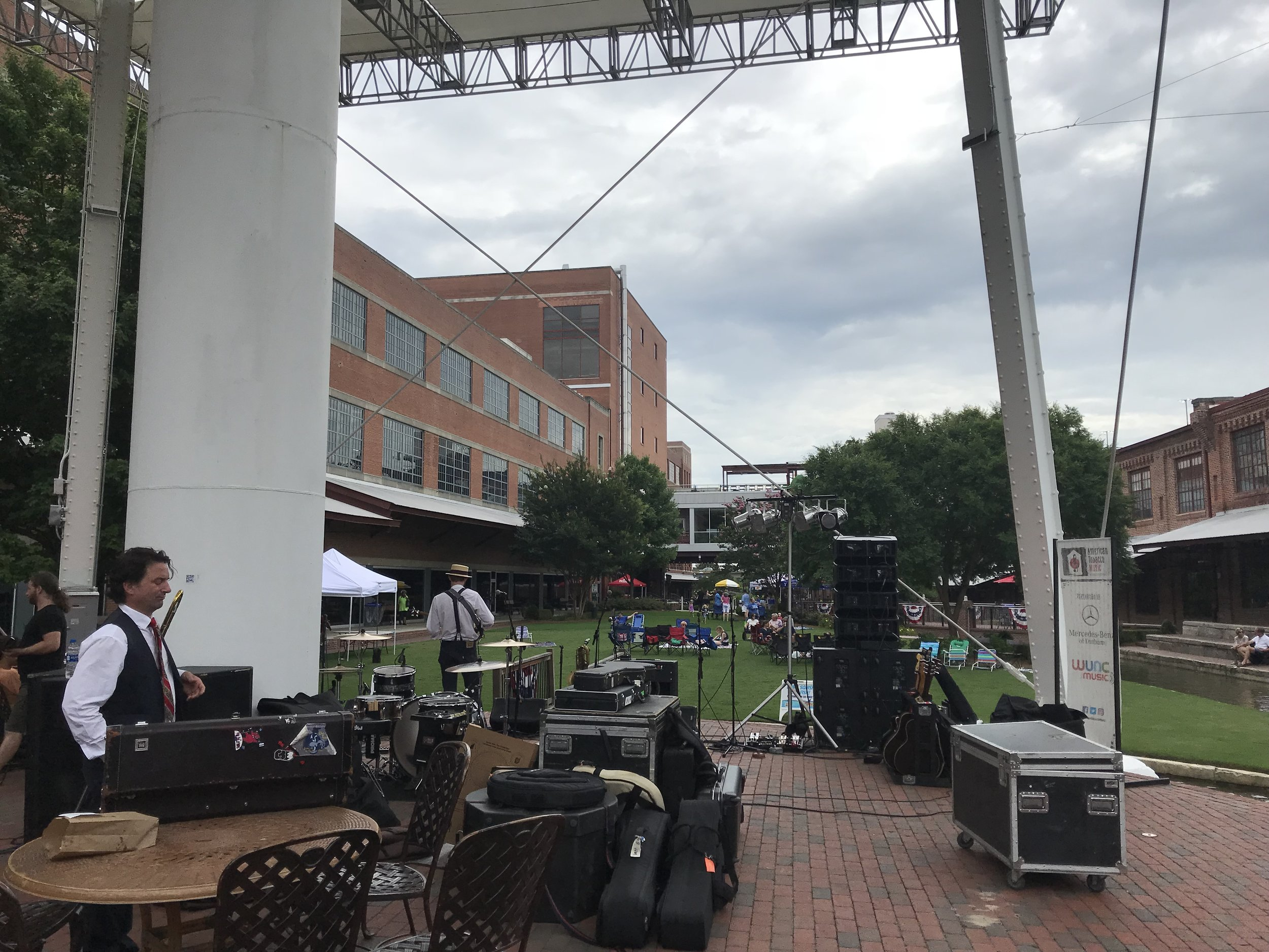 The view from backstage at the American Tobacco Campus in Durham