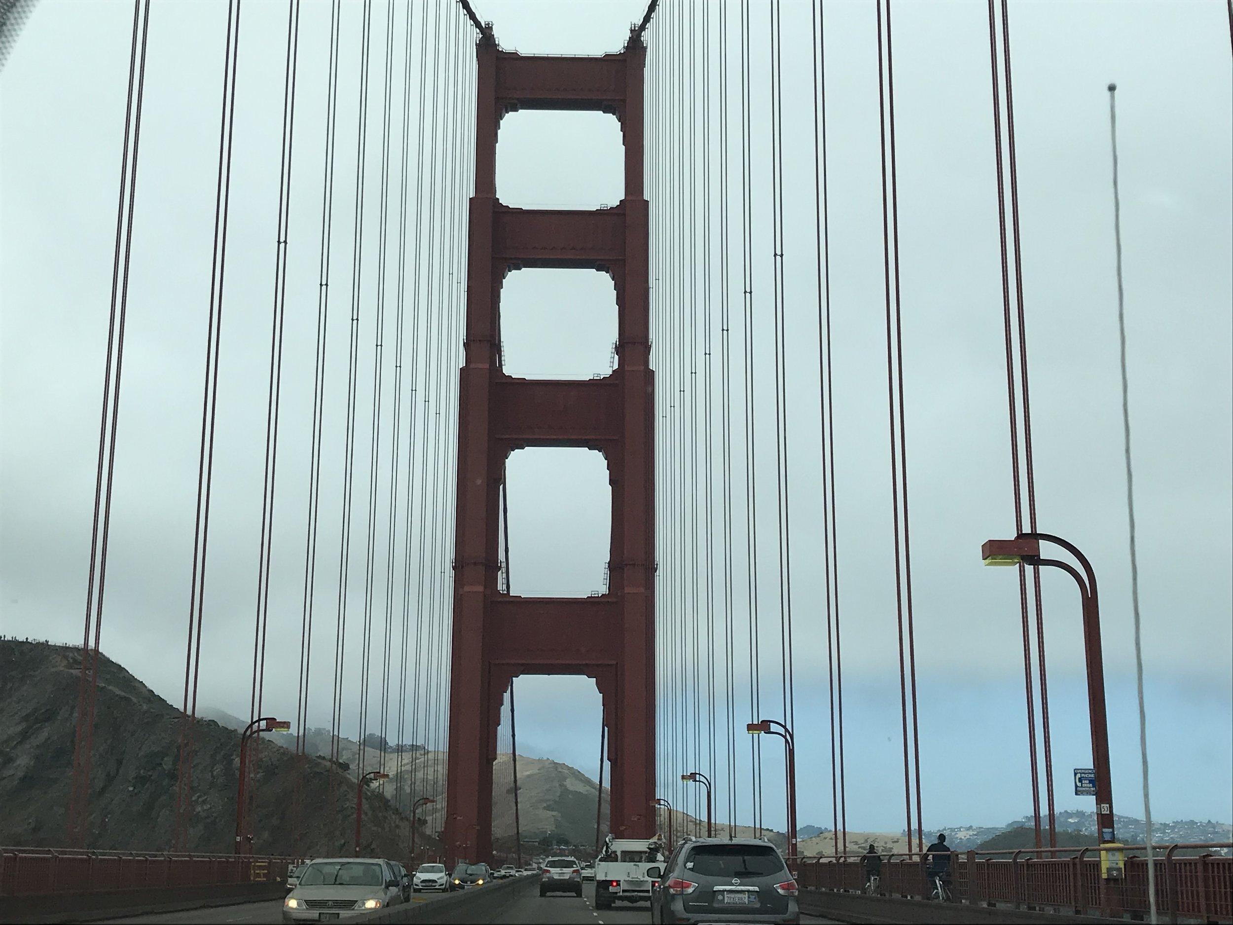Leaving San Francisco via the Golden Gate Bridge