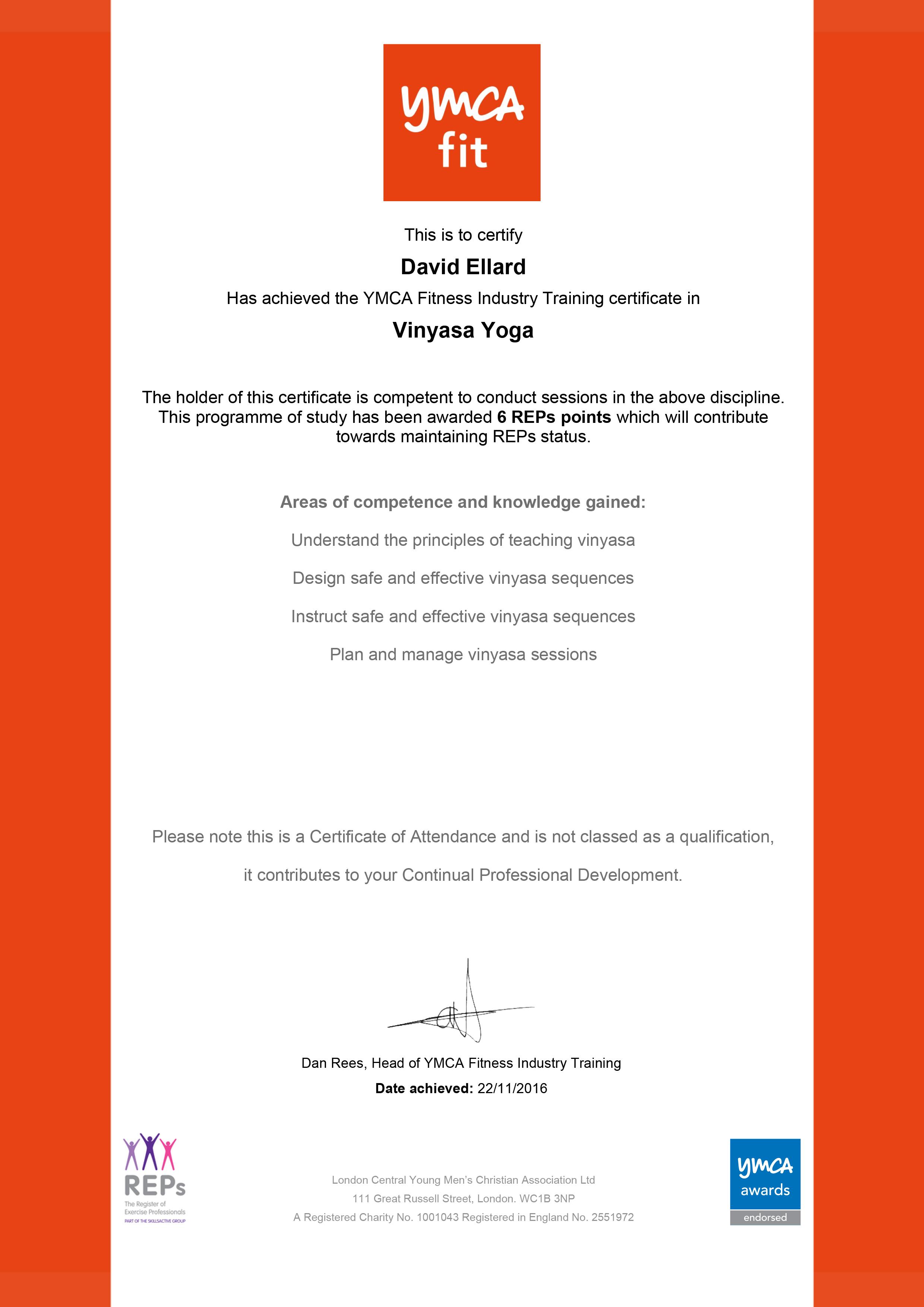 David_Ellard_Vinyasa_Certificate