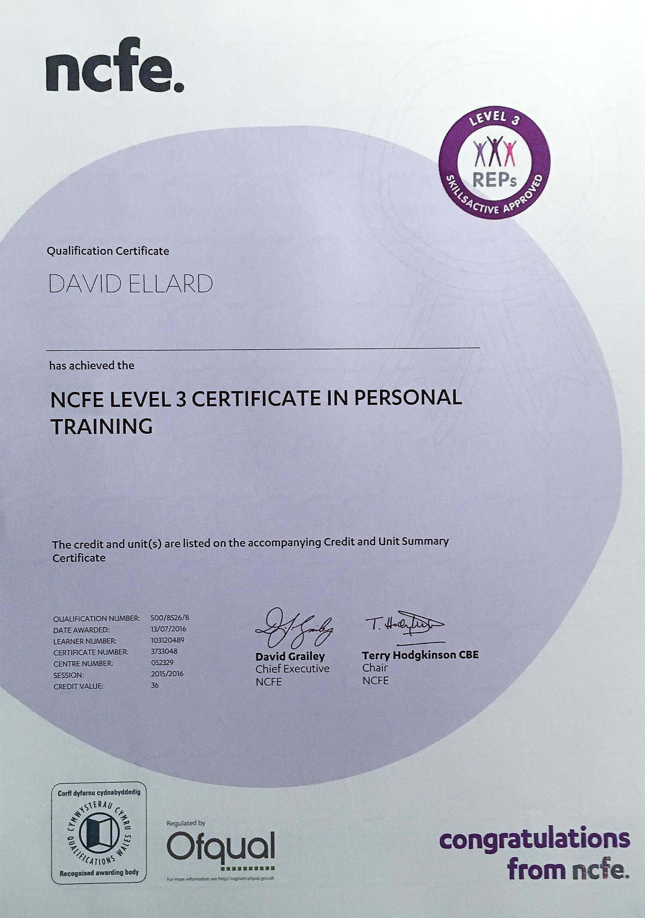 David_Ellard_Personal_Training_Certification