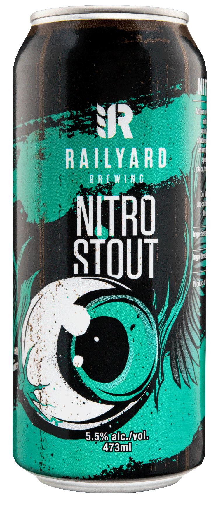 RAILYARD NITRO STOUT   The leading engine at Railyard & the only nitrogen packaged Stout coming out of Alberta. Rolling into the yard with bold coffee roast on the palate, underlying black molasses aromatics, balanced with light caramel sweetness & a nutty lingering. Rich, creamy & earthy, this flavour train doesn't stop for anyone.