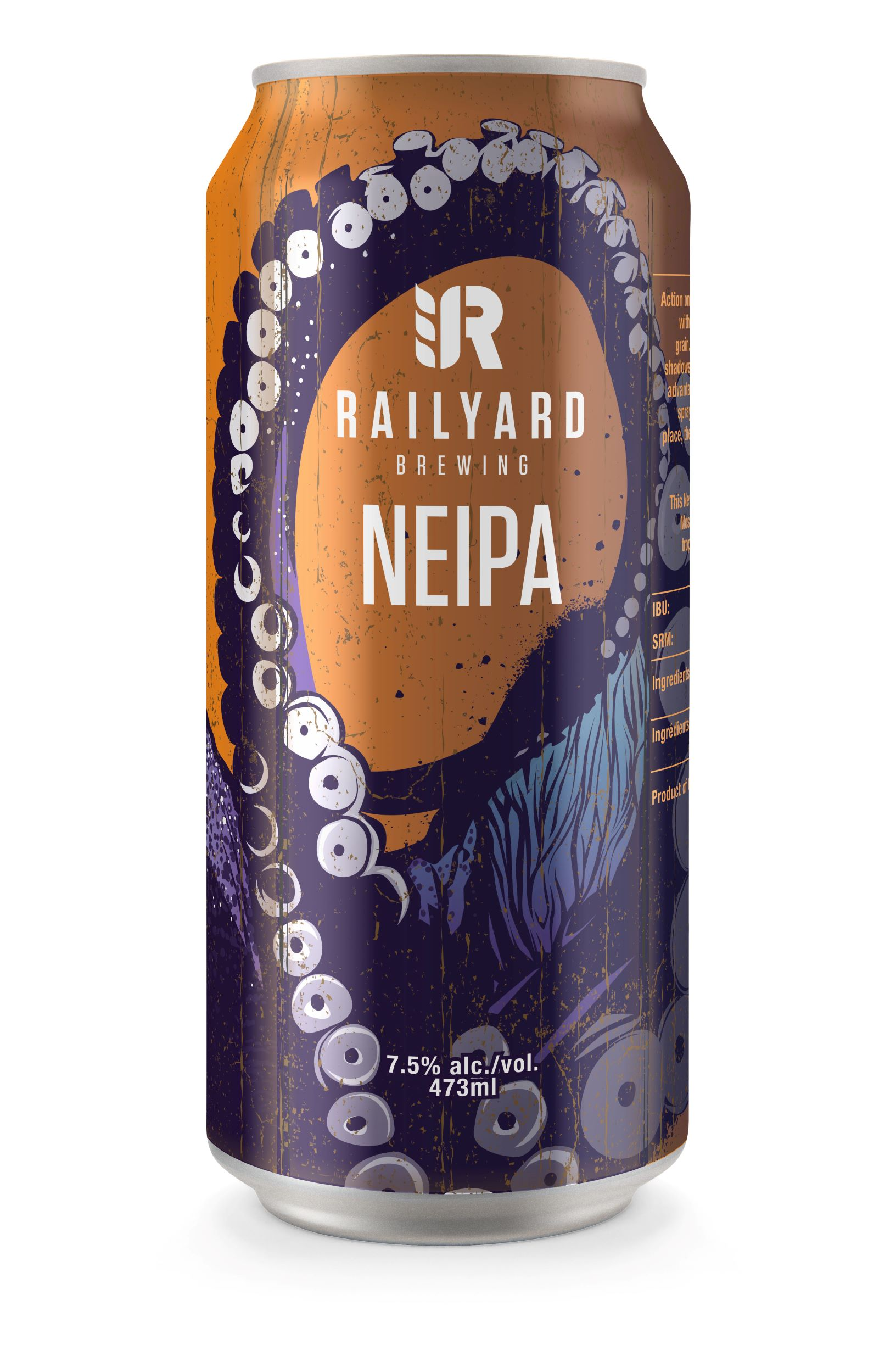 RAILYARD NEIPA   On its first tropical stop in the Railyard line; this New England IPA brings carloads of pineapple and mango hop flavours with aromatics that'll be noticed as soon as it enters the station! Brewed for its juicy presentation and smooth hop finish, this is the perfect addition to your lazy summer day; or escape from the winter doldrums.