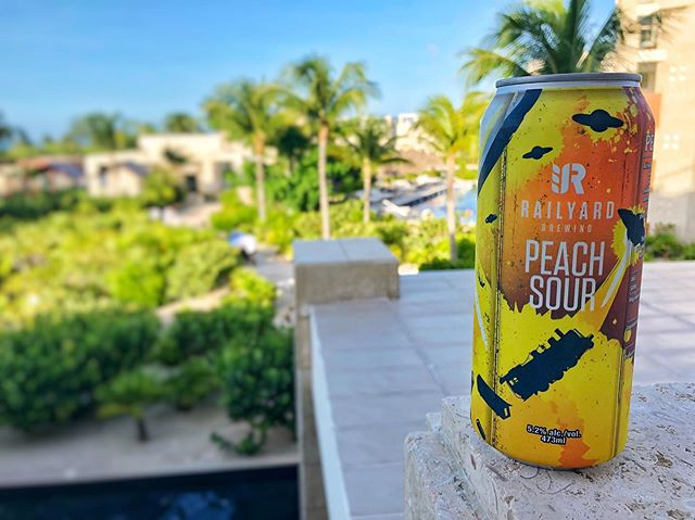 PICTURE PERFECT!! **** Toes in the water, ass in the sand, not a worry in the world, cold beer in my hand, life is good today!! **** Perfect brew for a perfect day, Peach Sour goes great with this hot sunny day in Playa Mujeres....LIFE IS GOOD TODAY! • • • #railyardbrewingyyc 📍 @belovedplayamujeres