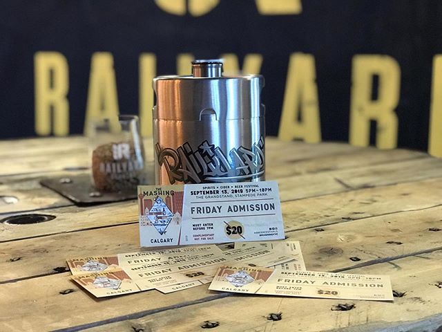 THE MASHING TICKET GIVEAWAY!! **** This weekend, Alberta Beer Festivals Presents...THE MASHING, and we want to send you and a friend to experience this amazing Beer Festival on Friday. Event doors open at 4:30pm and is held at the Calgary Stampede Grandstand. **** How do you win a pair of tickets? 1. You must follow Railyard Brewing  2. Like the post 3. Tag who you want to take to the festival. THATS IT...simple! Winner will be announced Friday September 13th at 12:00pm **** As per Instagram/Facebook rules, we must mention this is in no way sponsored, administered or associated with Instagram, Inc. or Facebook. By entering, entrants confirm they are 18+ years of age, release Instagram/Facebook of responsibility and agree to Instagrams/Facebooks terms of use. • • • #railyardbrewingyyc