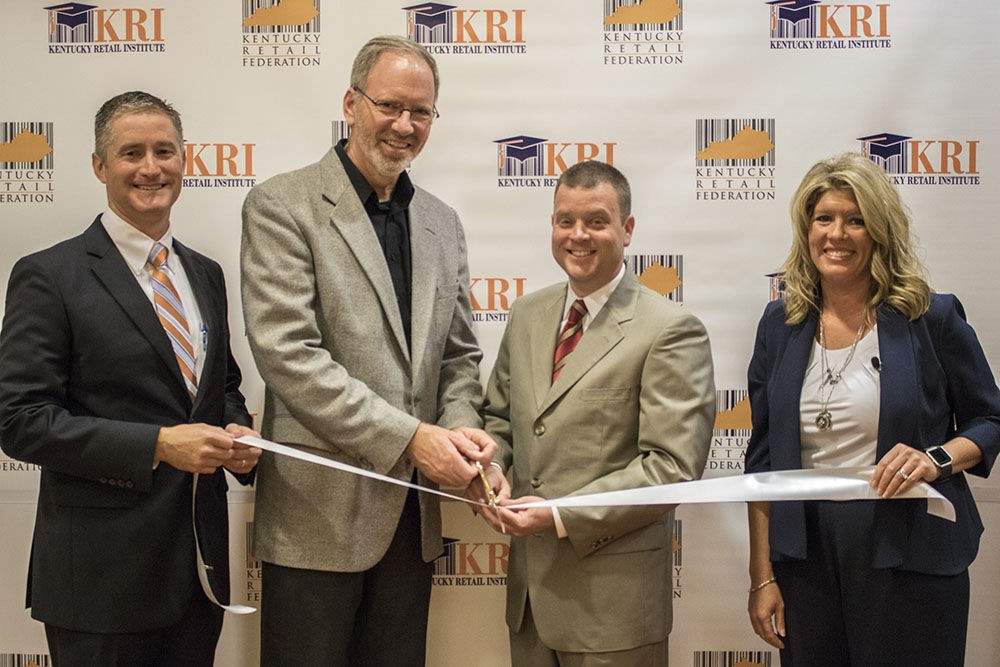 KRF's Tod Griffin, Kevin Cranley, Ed McCoy, and Cassie Grigsby.