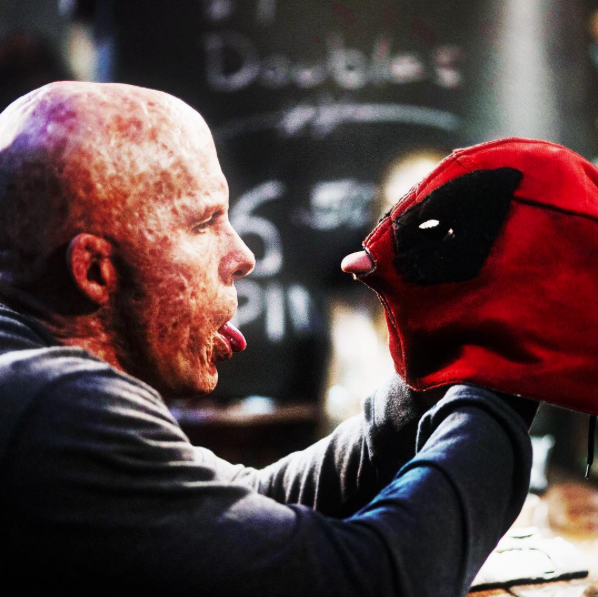 Let me assure you: TJ Miller has some  pretty  sassy things to say about Deadpool's horrifically scarred appearance. #funnyman #Leterrip #HecompareshimtobothFreddyKruegerandAvocadosHavingSex