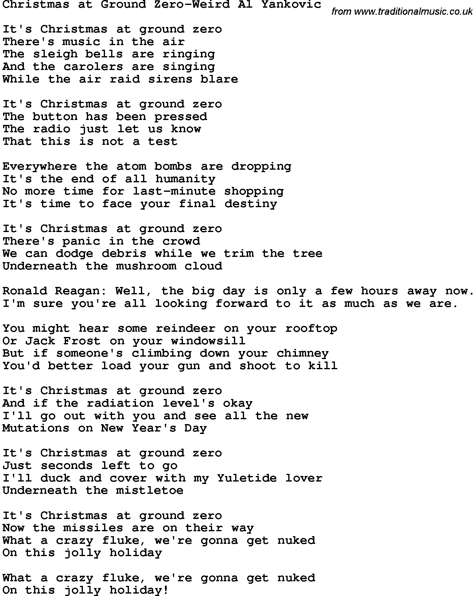 A little bit dark, these lyrics are