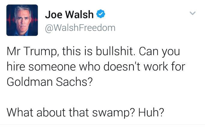 You broke Joe Walsh's heart, you monster! Hopefully the other Eagles are handling it better.