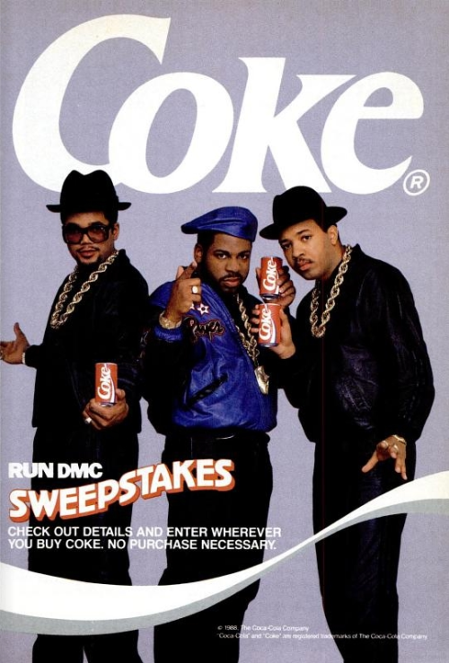 """Yeah, this wasn't the """"Coke"""" Run-DMC had a problem with in the 1980s."""