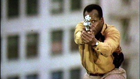 Danny Glover as a cop with a gun? Now I've seen everything!