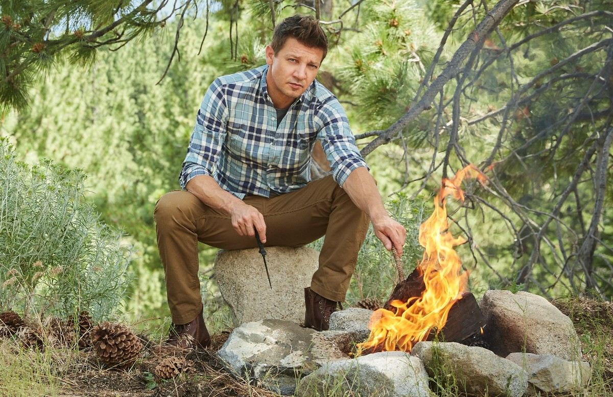 Who's up for camping? Two time Academy Award nominated actor Jeremy Renner, that's who!