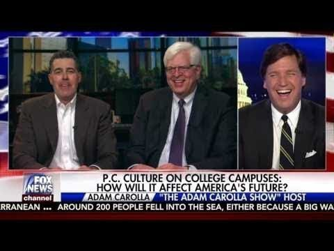 When you're making Tucker Carlson chuckle you know you're on the side of angels.