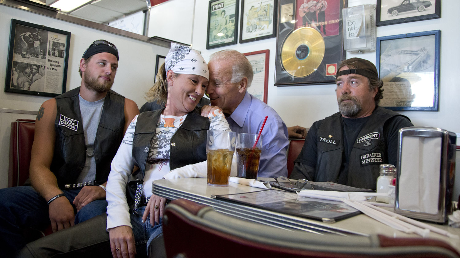 One reason not to like Joe Biden? He stole this trucker's old lady, thereby violating the sacred trucker code.