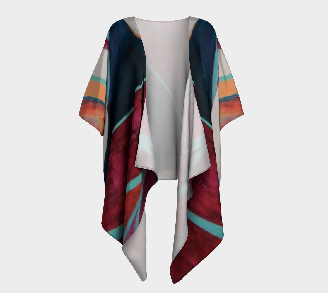 Example of a draped kimono from the Abstract Collection