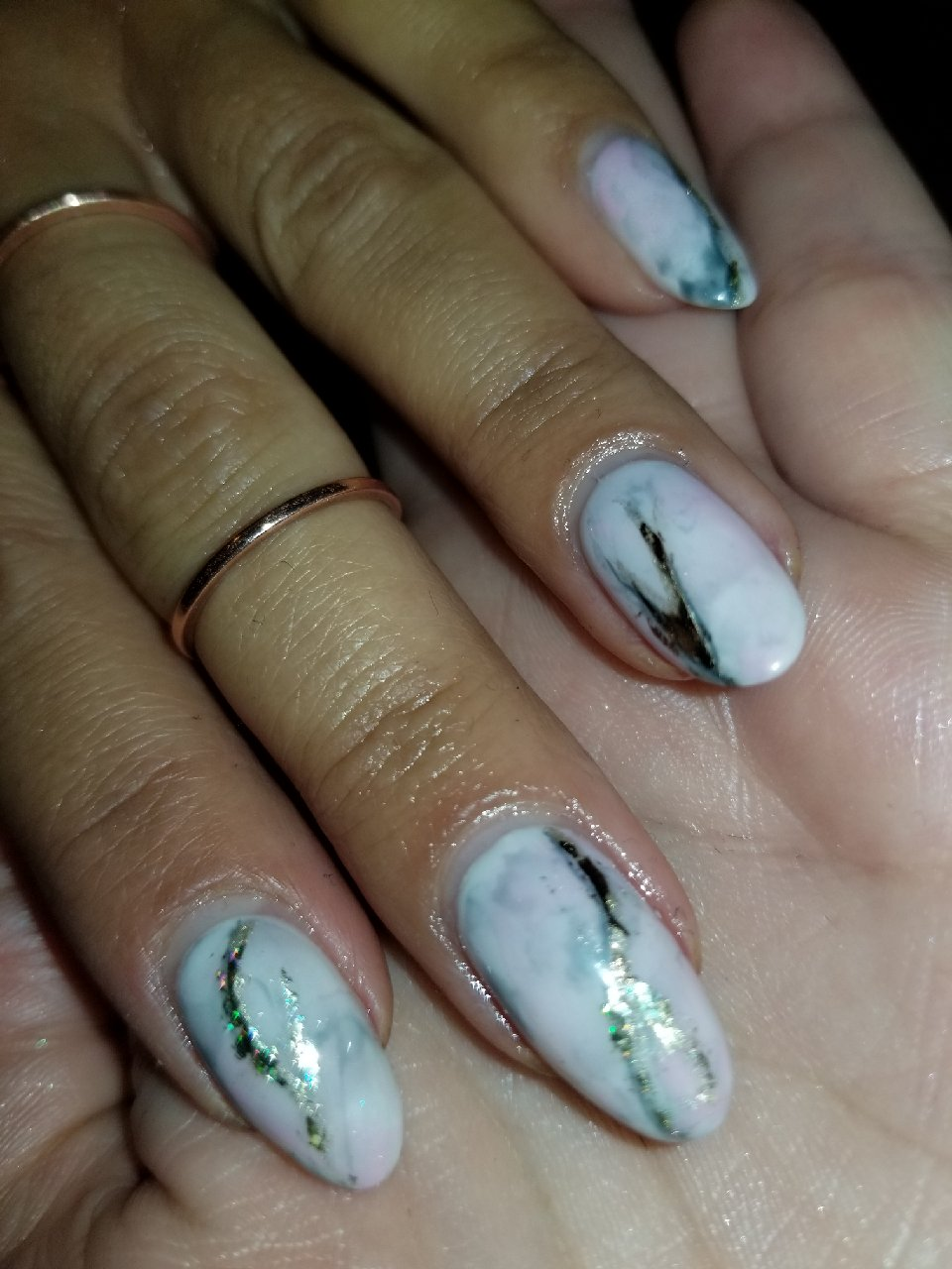 Marble Nails, Marble Nail Art, Foil Nails, Gold Leaf, Best Manicure