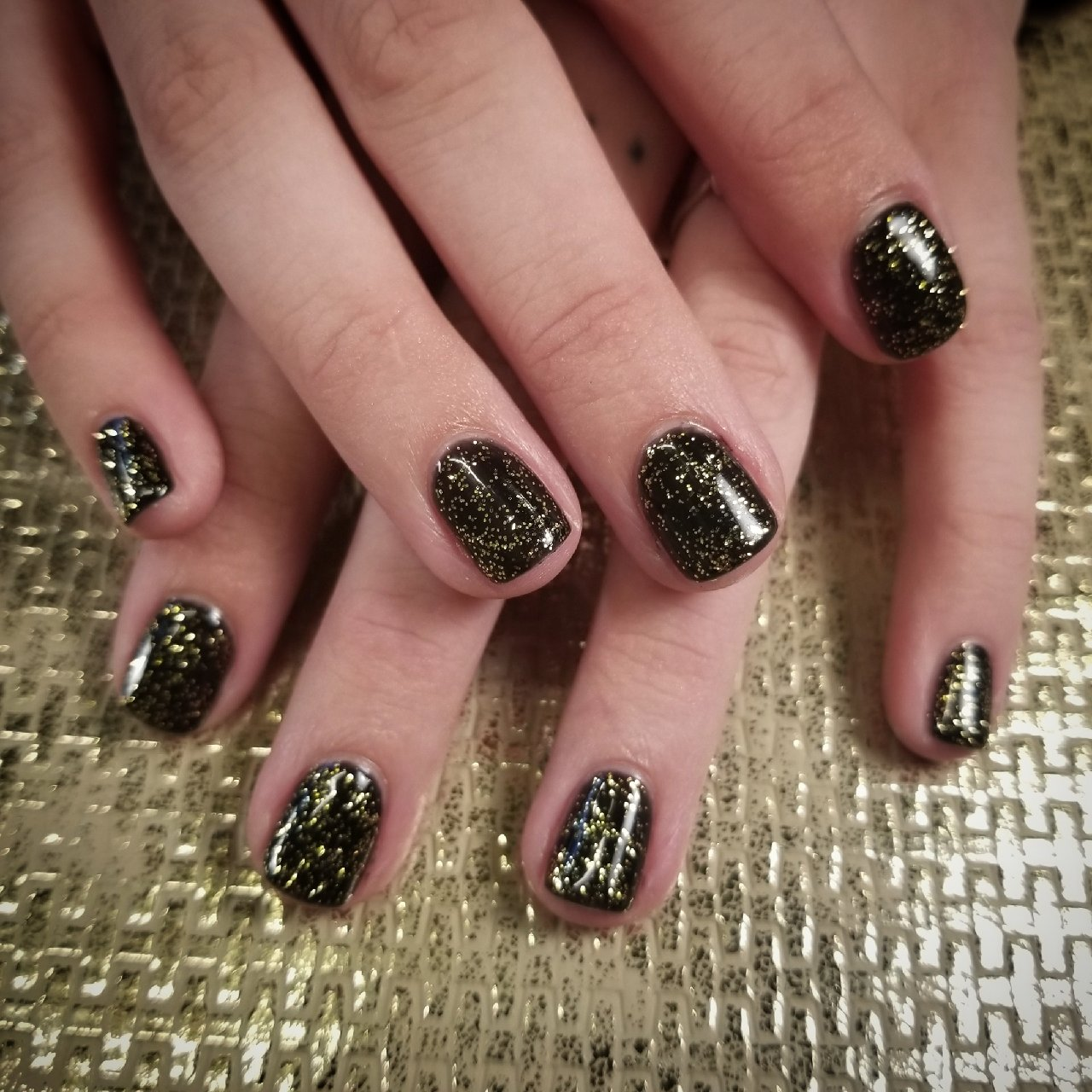 Black and Gold, Black and Gold Mani, Best of, Foil, Gold, Nail Art