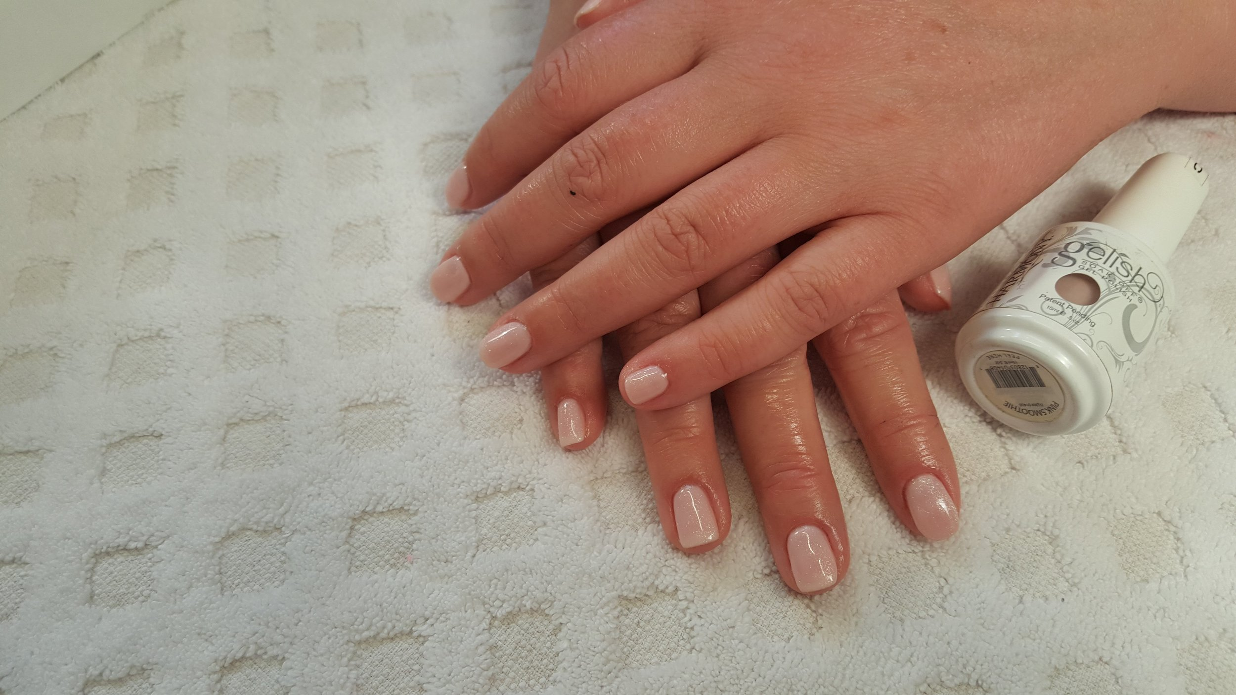 Gelish Nails, Nude Mani, Bridal, Wedding Nails