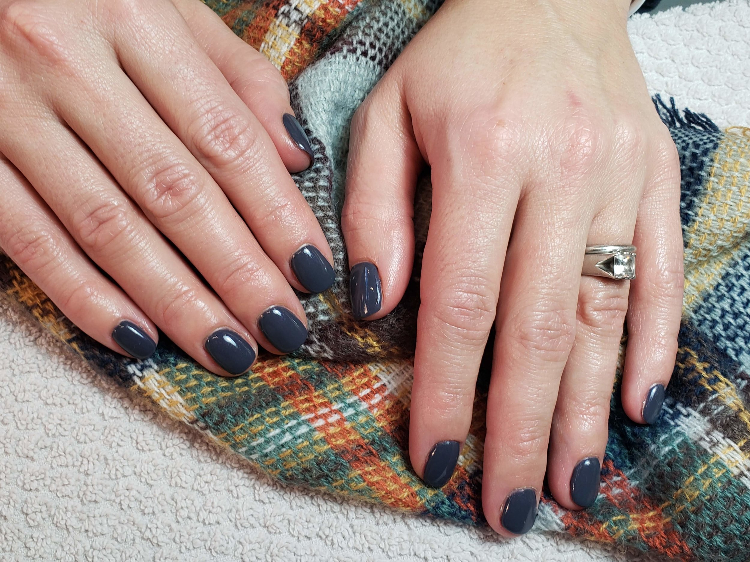 Navy Nails, Navy Manicures, Navy Manis, Best Blue Manis, Best Blue Nail Colors, Gel Nails, Bio Sculpture, Shellac, Perfect Manicure, Perfect Mani, New Nude