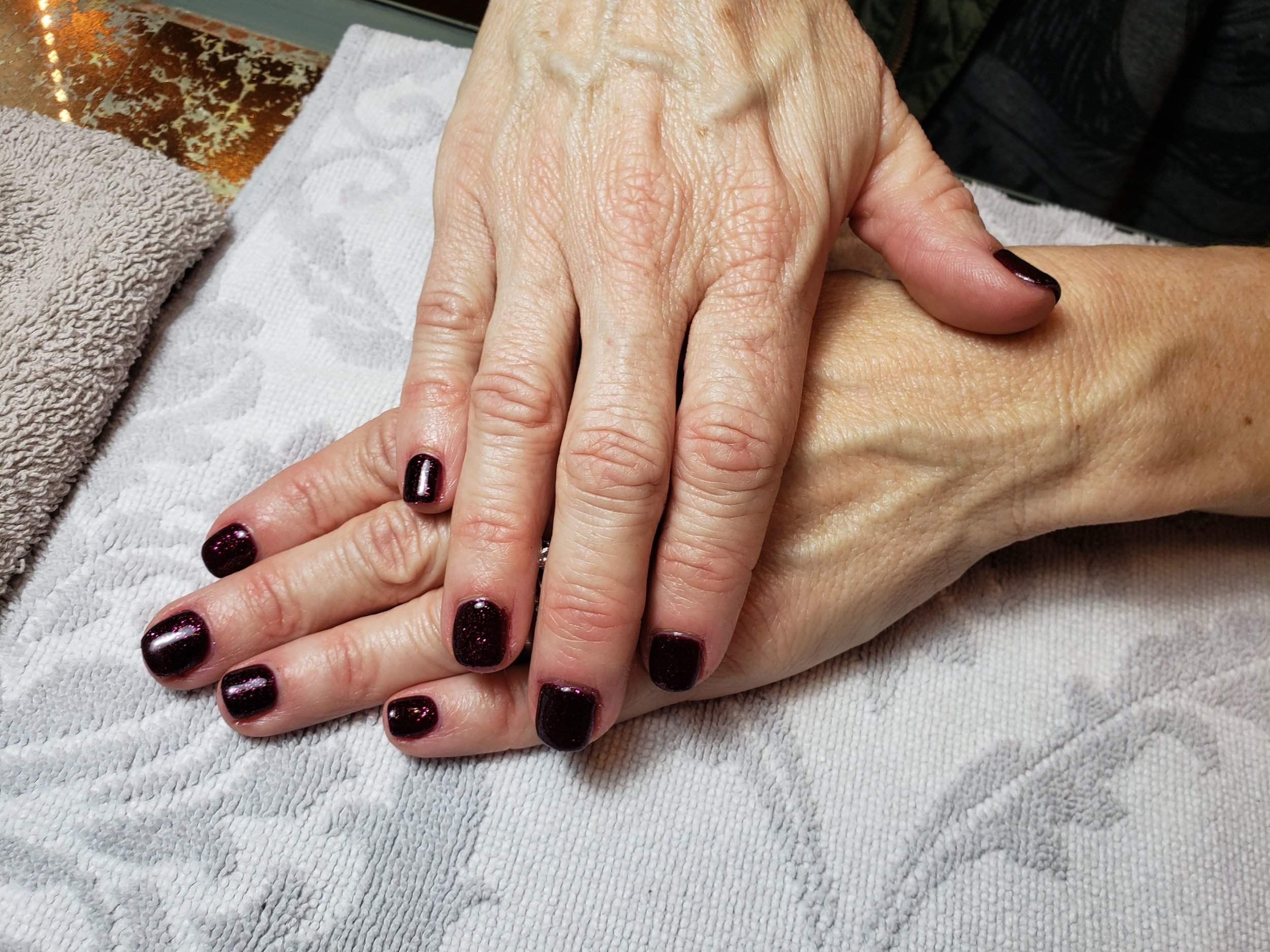 Goth Nails, Dark Nails, Vamp, Mani, Vamp Mani, Gel Nails,