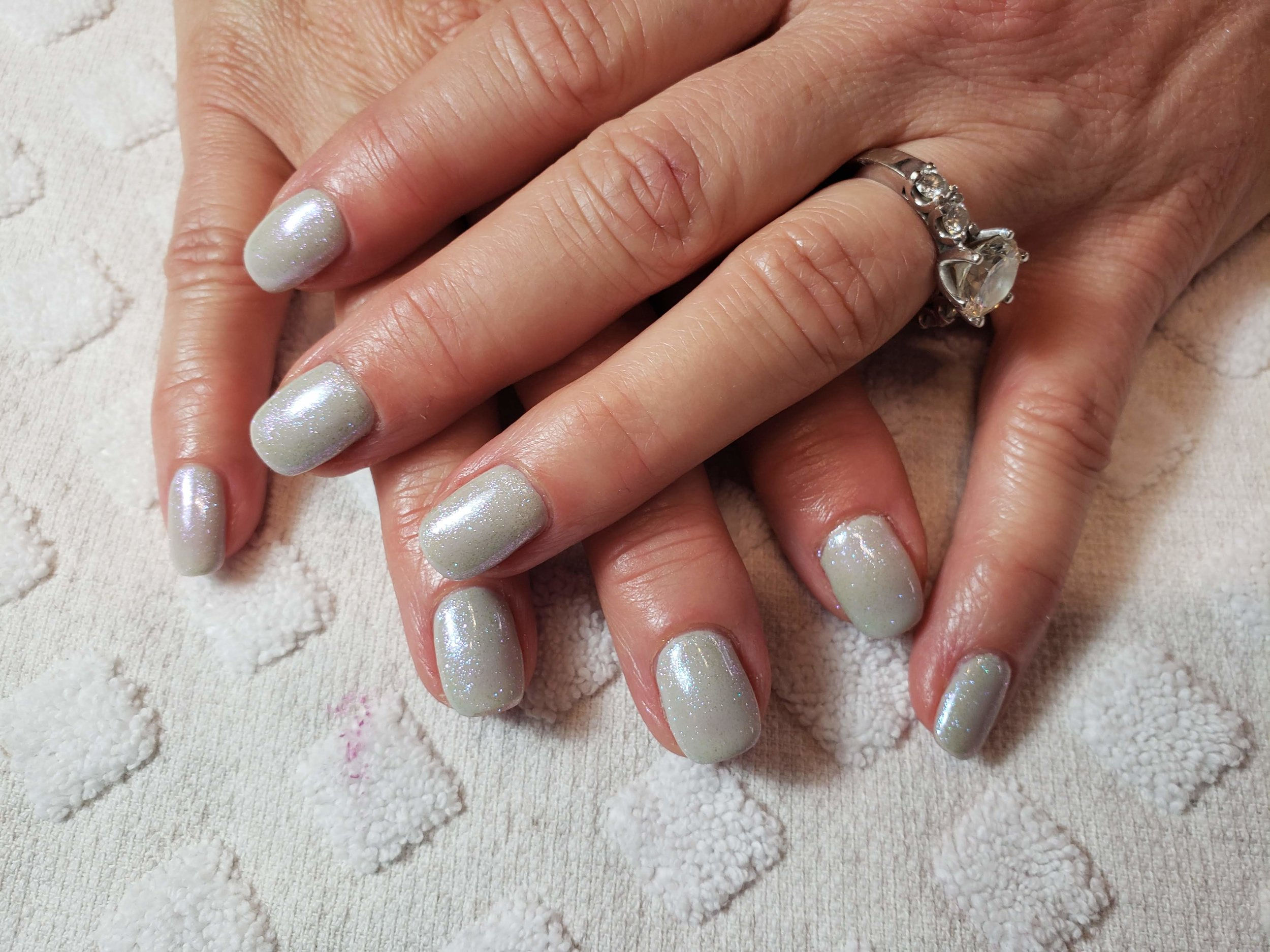 Wedding Nails, Modern Bride, Soft, Pastel, Pretty, Silver,